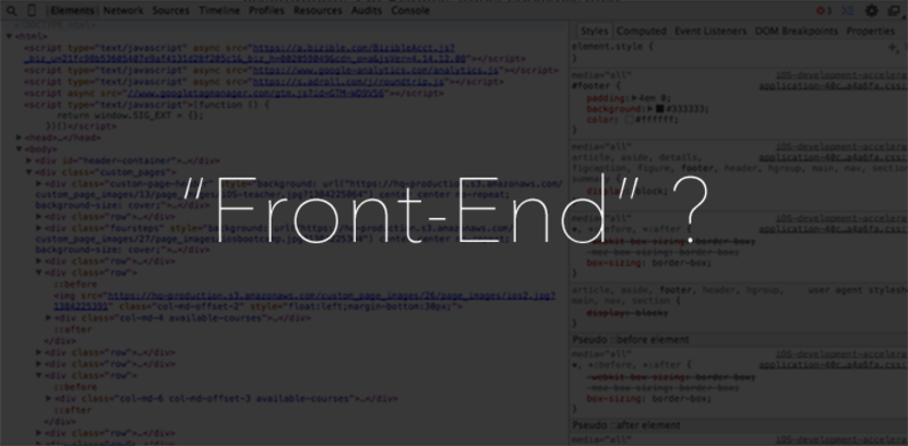 """Clarifying the 5+ roles of a """"Front-End Web Developer"""""""
